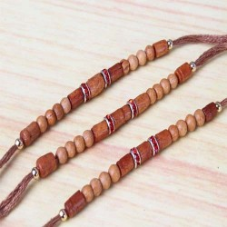 Three Simple Wooden Rakhi