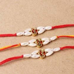 Trio Golden Om Divine Rakhi...