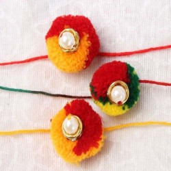 Set of Three Multicolor...