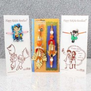 Bhaiya Bhabhi with Cartoon Rakhi Family Combo