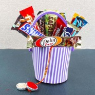 Rakhi Eva Basket of Imported Chocolate Bar