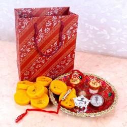 Fancy Rakhi Thali Gift Combo
