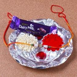 Mini Silver Plated Rakhi...
