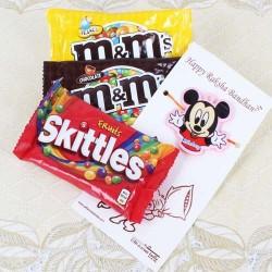 Micky Mouse Rakhi with MnM...