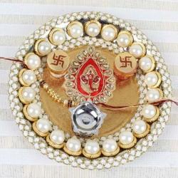 Pearl Ganesha Puja Thali
