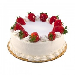Strawberry Eggless Cake (Cocoa Tree)