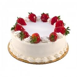 Strawberry Eggless Cake (Cocoa Tree)