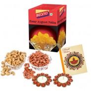 Bikano Kesar Angoori Petha 1kg and Dryfruits-Diwali gifts
