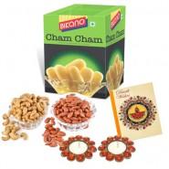 Bikano Cham Cham 1kg and Dryfruits-Diwali gifts