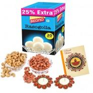 Bikano Rasogolla 1kg and Dryfruits-Diwali gifts