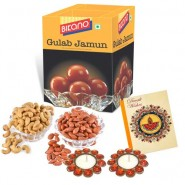 Bikano Gulab Jamun 1kg and Dryfruits-Diwali gifts