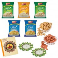 Bikano Diet snacks and dryfruits Diwali Combo