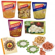 Bikano Soan papdi and namkeens with Dryfruits-Diwali gifts