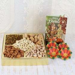 Tasty Nuts with Diwali Card...