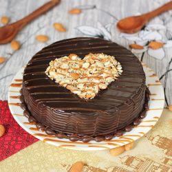 Choco Almonds Cake  - 1 kg