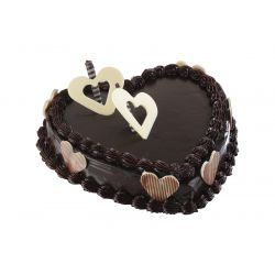 Heart Shape Chocolate Cake - 1.5 kg