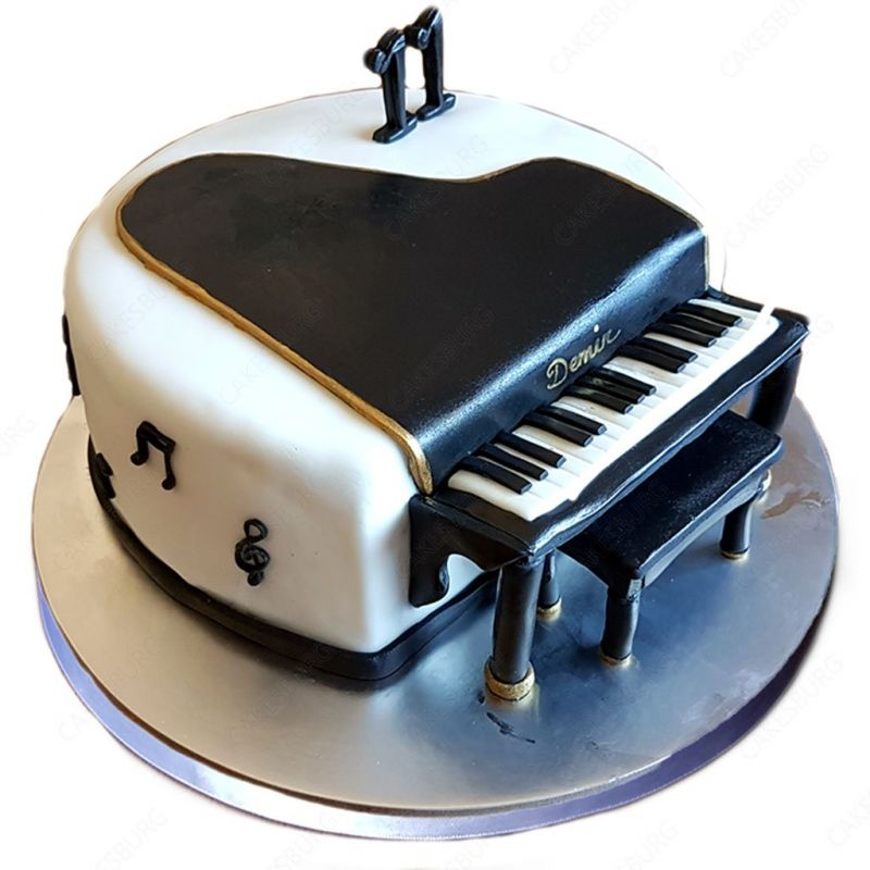 Sensational Piano Cake 3 Kg Fountain Cream Orderyourchoice Funny Birthday Cards Online Aeocydamsfinfo