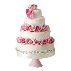 4 Tier Wedding Cake - 7Kg