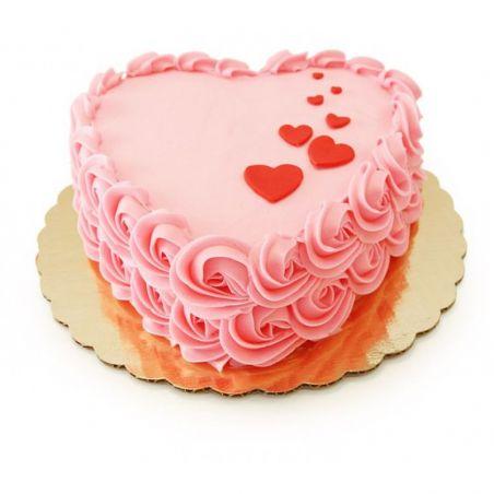 Pink White Heart - 1.5kg