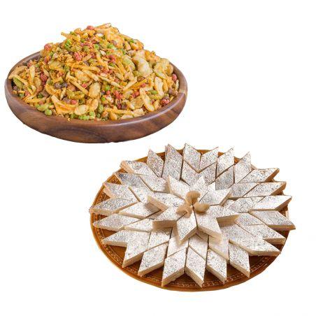Kaju katli and Mixture