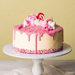 Pink Passion Eggless Cake - 1 kg (Sweet Chariot)