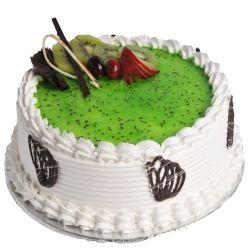 Kiwi Bonanza Eggless Cake - 1 kg (Sweet Chariot)