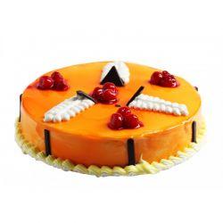 Stunning Mango Eggless Cake - 1 kg (Sweet Chariot)