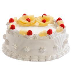 Pineapple Eggless Cake (brownie point)