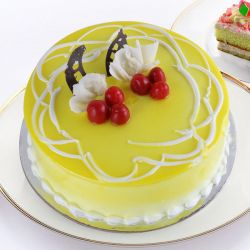 Pineapple Eggless Cake - 1KG