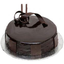 Chocolate Truffle Eggless Cake - 1 kg (Kabhie B)