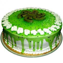 Kiwi Dreams Eggless Cake - 1 kg (Kabhie B)