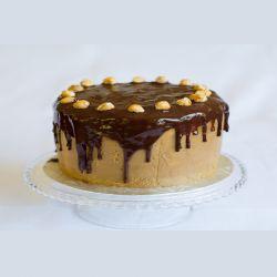 Mocha n Hazenut Delite Eggless Cake - 1 kg (Kabhie B)