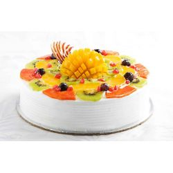 Passion Fruit Fantasy Eggless Cake - 1 kg (Kabhie B)