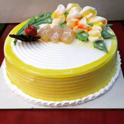 Pineapple Eggless Gateaux - 1 kg (Kabhie B)