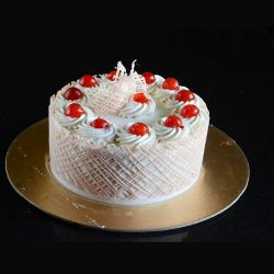 White Forest Eggless Cake -...