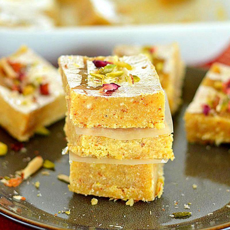 Moong Dal Barfi (Guwalia Sweets)