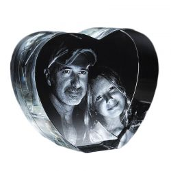 3D Heart Image Crystal