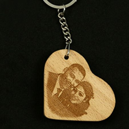 Wooden engraving Key Chain