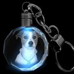 Illuminated Crystal Key Chain