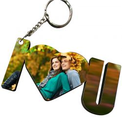 I Luv U Picture Key Chain