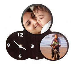 3 circle clock