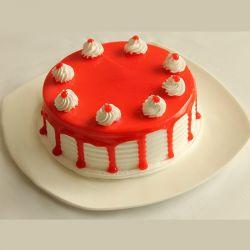Strawberry Eggless Cake (Cake Corner)