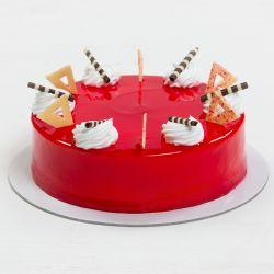 Strawberry Eggless Cake (Adyar Bakery)