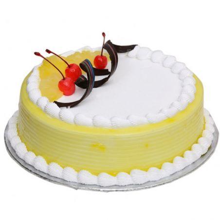 Pineapple Eggless Cake - 1Kg (Cake Point)