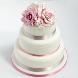 3 Tier Wedding Cake  6Kg