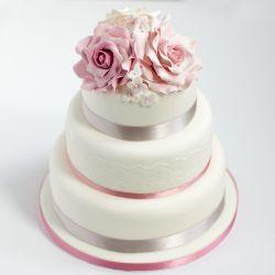 3 Tier Wedding Cake  6Kg