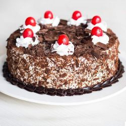 Black Forest Eggless Cake...