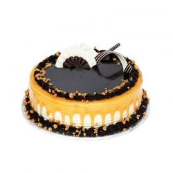 Chocolate Butterscotch Cake - 1 kg (Amma's Pasteries)