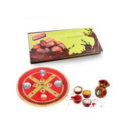 Bhaidooj thali with Chocolates