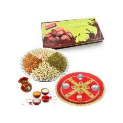 Bikanervala Dry fruit with Chocolates with Bhaidooj puja thali